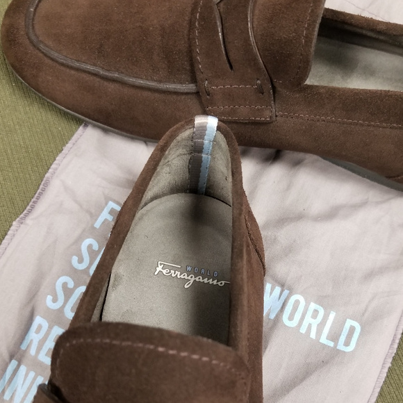 Mens Brown Suede Loafers 85